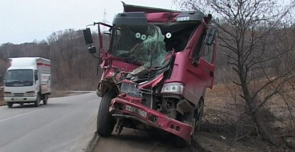 ДТП автокрана в Кировской области